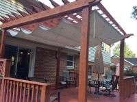 Pergola Shade. Made with a painters tarp from Home Depot ...