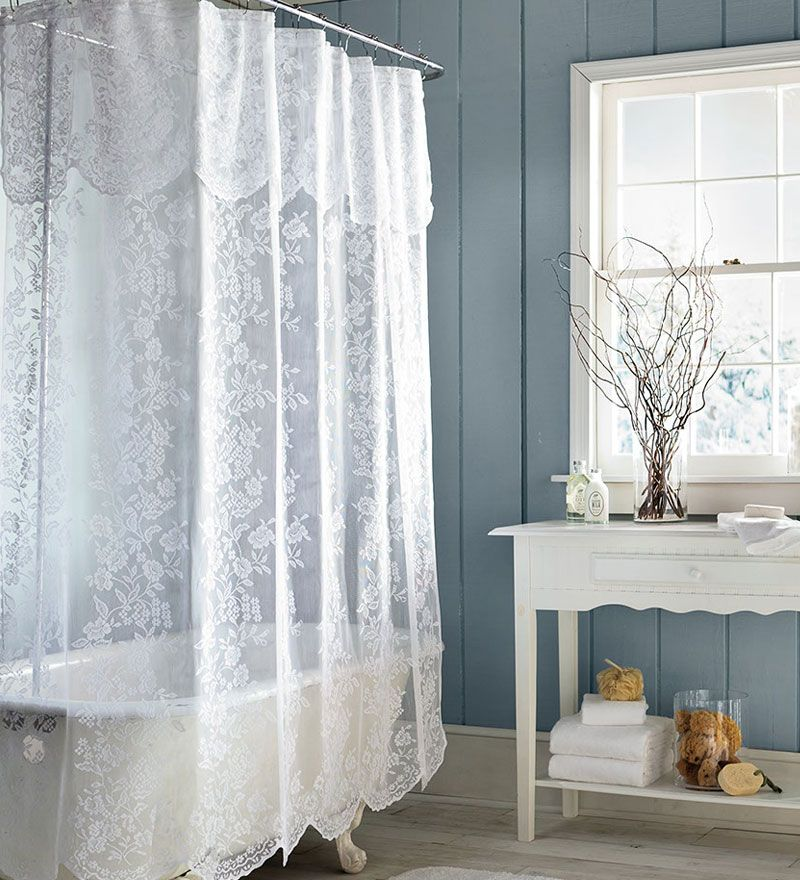 shower curtains  EasyCare Polyester Somerset Lace Shower