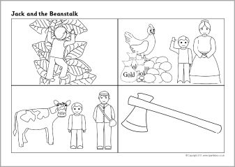 Jack and the Beanstalk sequencing sheets (SB3668