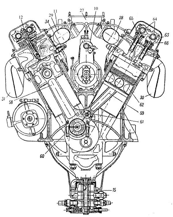 Diagram Of V12 Engine