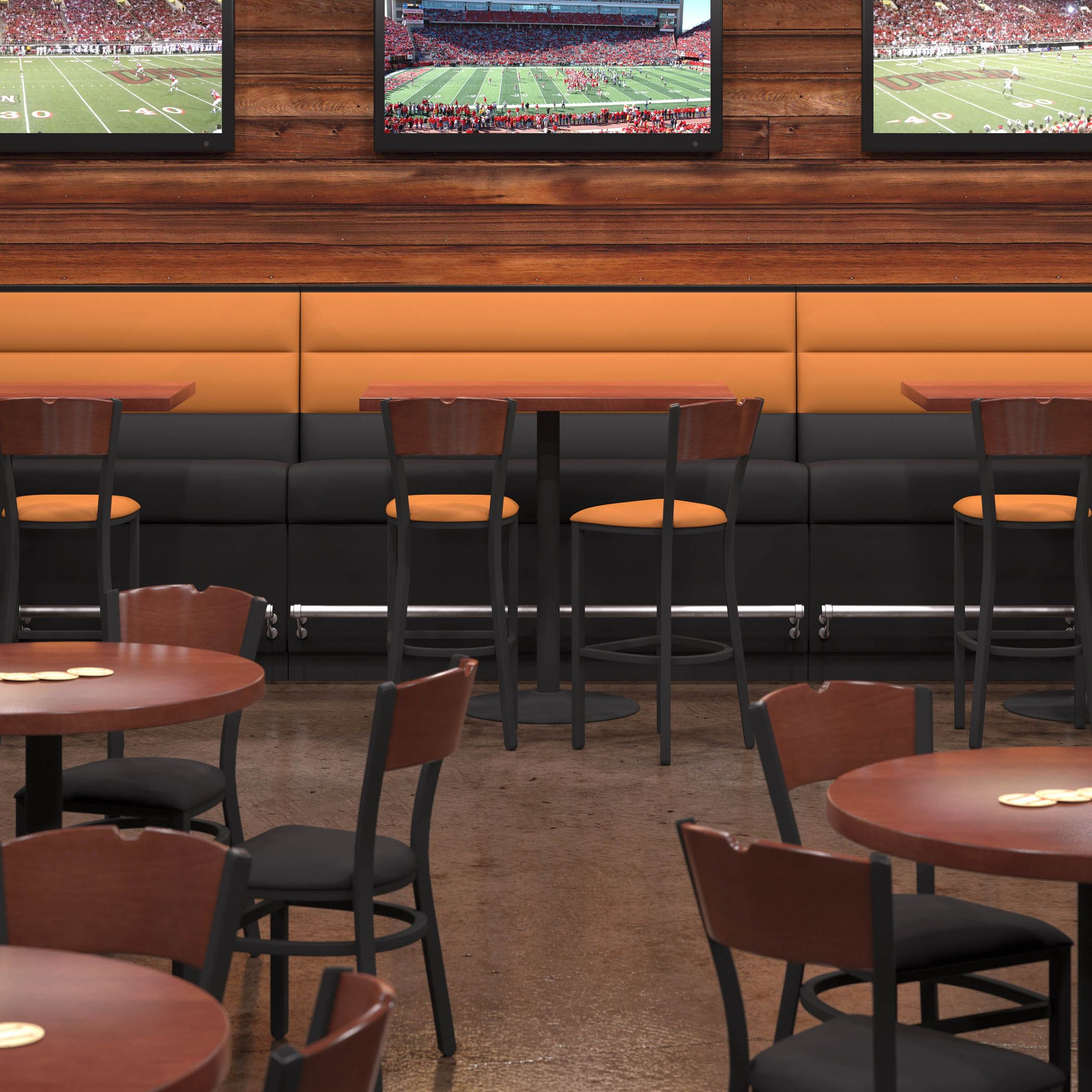 restaurant sofa booth seating empire freedom shelby williams n582 bar height features brushed
