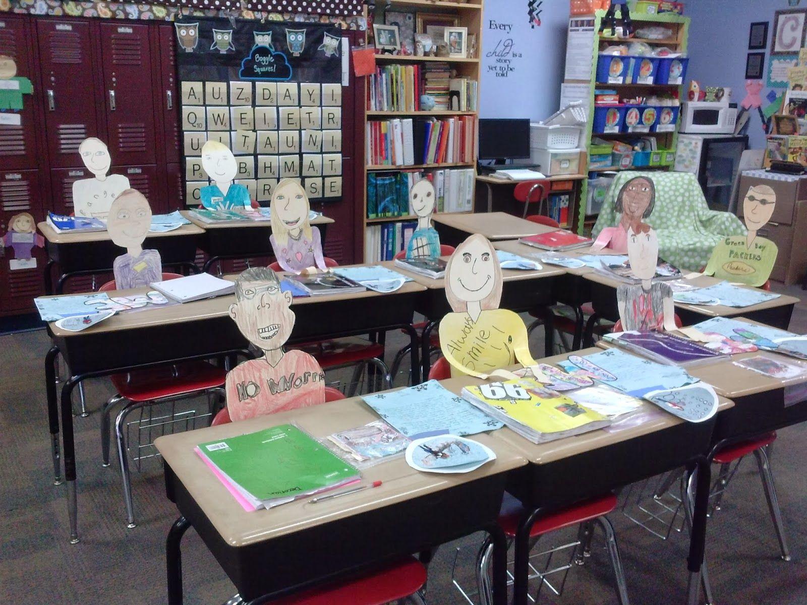 "Loves Third Grade ""desk People"" For Open House Gr 4 1st Week"