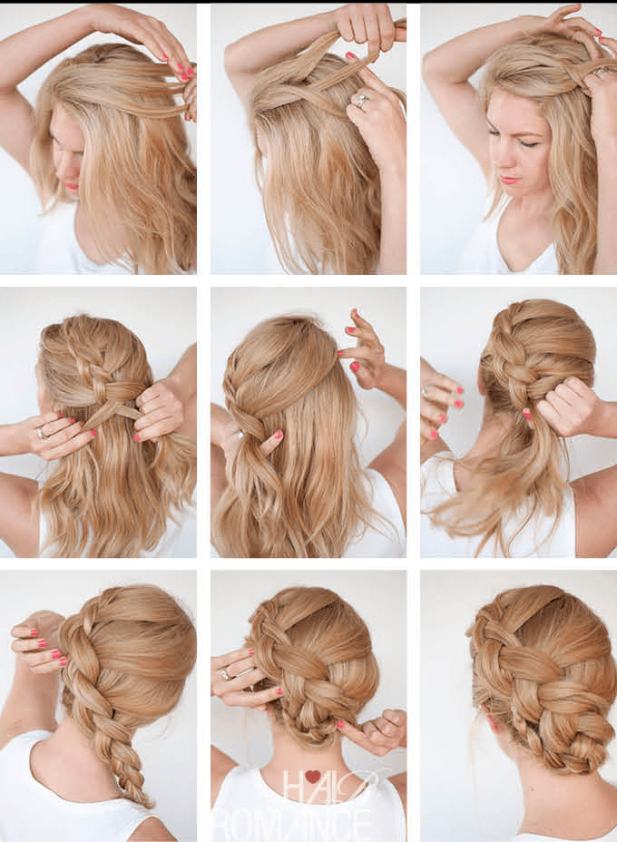 How To Make A French Braid How To Make Twist Braid Updo