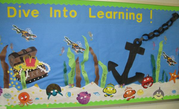 Dive Learning Bullentin Board Ideas