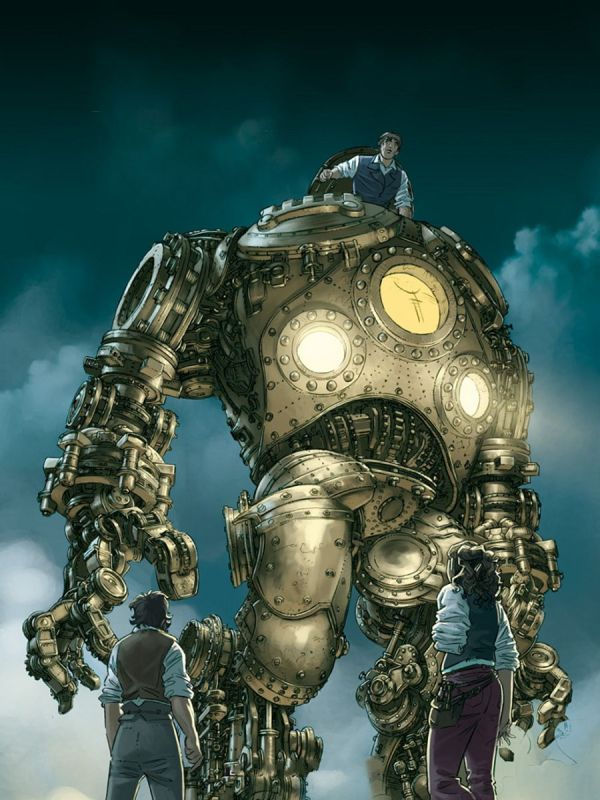 Steam Punk Giant Robot . Hostache Steampunk