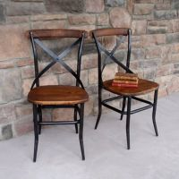 Cross Back Wood Chair (Click for video) | Industrial chair ...