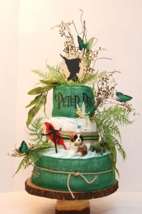Peter Pan diaper cake I made | Peter Pan baby shower ...