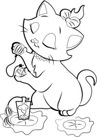 Dibujos De La Gatita Marie Para Colorear
