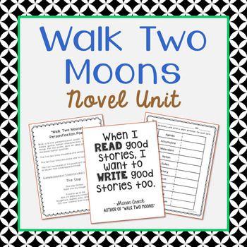 Walk Two Moons Novel Unit Study Activities Book Companion