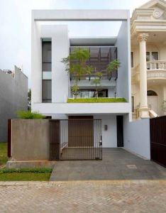 Minimalist house exterior in square design facades pinterest and squares also rh