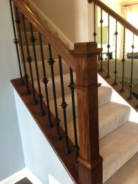 iron stair railing with knuckles - Google Search ...