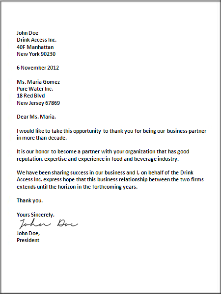 US Business Letter Format Letter Pinterest Business