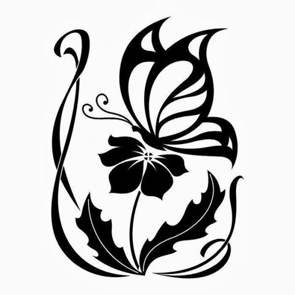 butterfly flower clip art