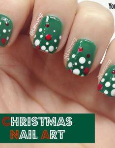 nice easy christmas nail art for short nails sephora video tutorial also rh pinterest - Easy Christmas Nail Art For Short Nails