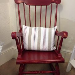 Diy Painted Windsor Chairs Lazy Boy Recliner Harvey Norman Rocking Chair In Annie Sloan Burgundy Chalk Paint