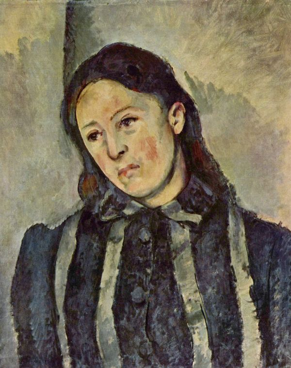 Madame Cezanne With Unbound Hair - Paul #cezanne #