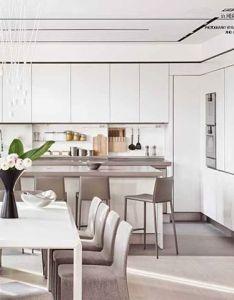 Designer kitchen by knof design interiors interiordesign dada style architecture also rh pinterest