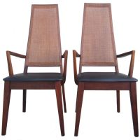 Mid-Century Cane-Back Armchairs by Tempo of California ...