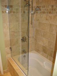 Frameless tub shower door, model 6008SHR: Semi-Frameless ...