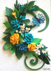 Quilling roses/Quilling wall art/Romantic/Roses/Lily of ...