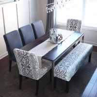 Easy Bench Slipcover | Bench, Decking and Dining room table