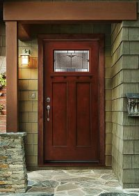 Get the look and feel of natural wood for your front door ...
