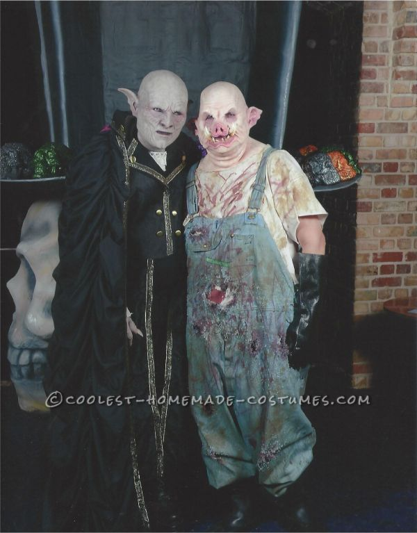 Horror Couple Costume Count Orlok And Pig