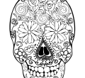 Day of the dead coloring pages for adults sugar skull wallpaper printable flowers mobile phones high resolution