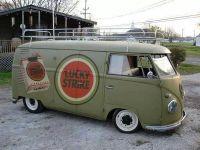 Army Green Lucky Strike Cigarette Volkswagen Barn Door Bus ...