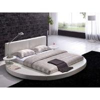 Queen size Modern Round Platform Bed with Headboard in ...