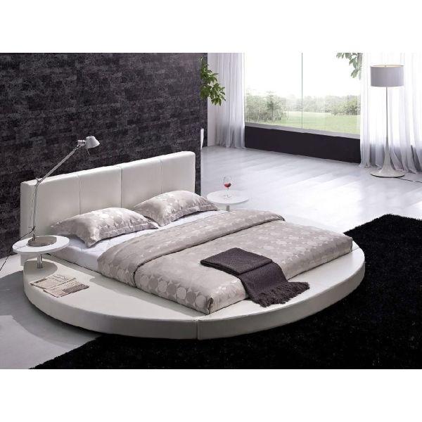 Queen Size Modern Platform Bed With Headboard In