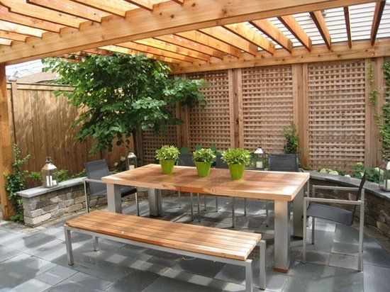 Cedar Pergola Patio Screening Ideas Garden Fence Ideas Modern