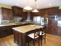 Kitchen:Cherry Kitchen Cabinets With Granite Countertops ...