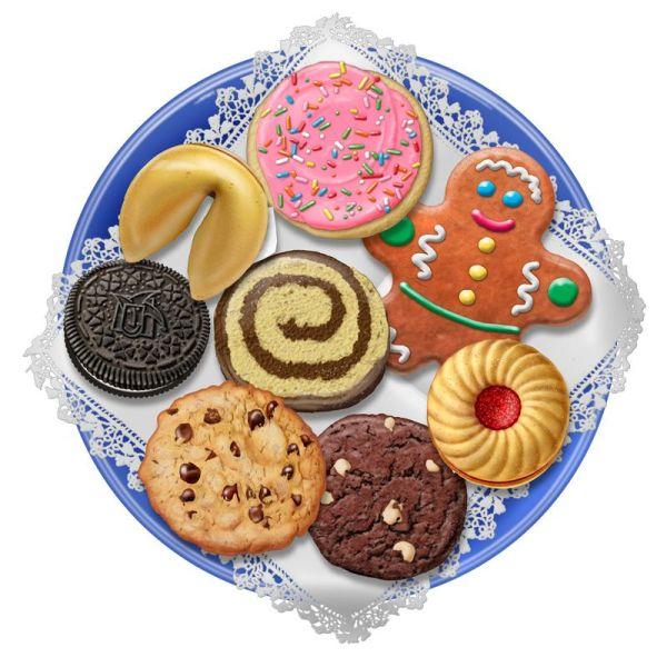 christmas cookie platter clip art