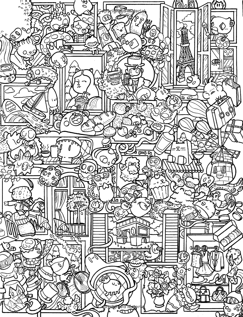 PDF Download Doodle Fusion Zifflins Coloring Book Volume 2