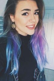 mermaid hair dyed blue