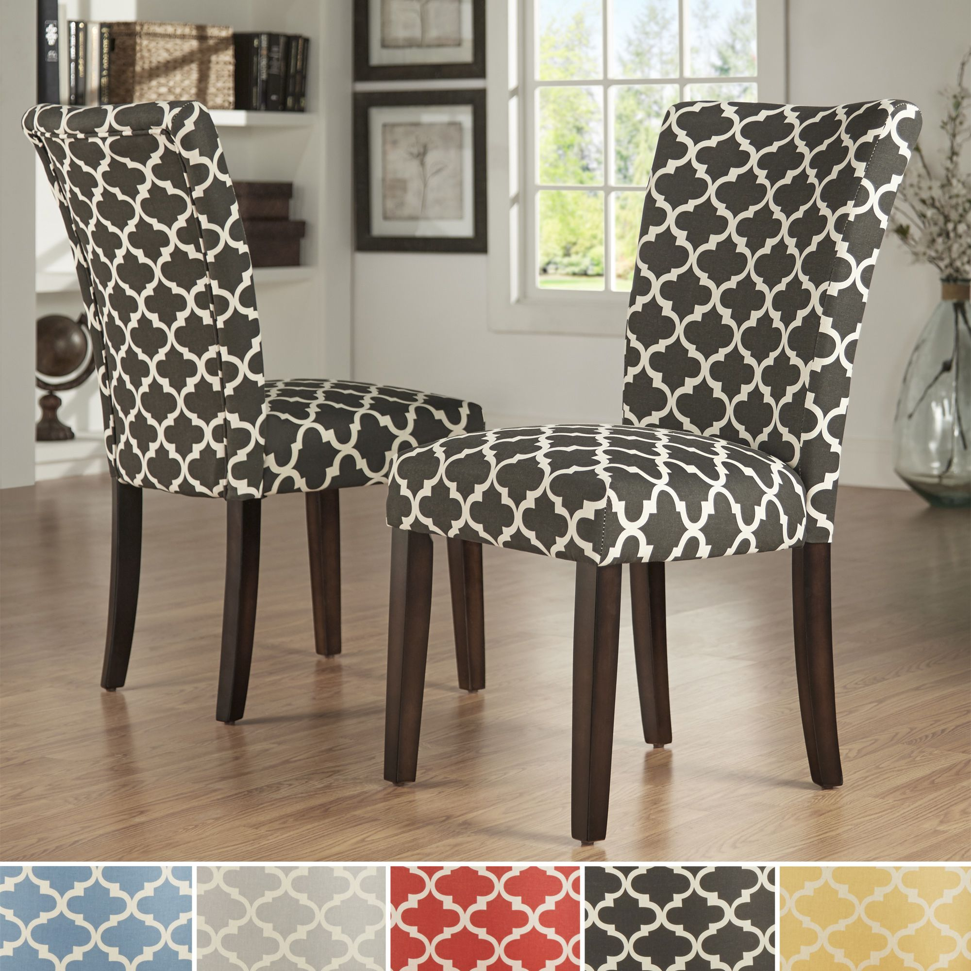 fabrics for kitchen chairs glider chair parts canada inspire q catherine moroccan pattern fabric parsons dining