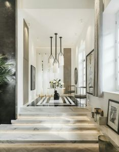 Our porcelain slabs used in kelly hoppens home luxury homes modern interior design inspiration also pin by way out decor on lobby designs pinterest and rh