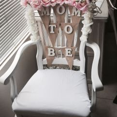 Baby Shower Chair Decorations Yellow Swivel Idea Flowers From Walmart Wood