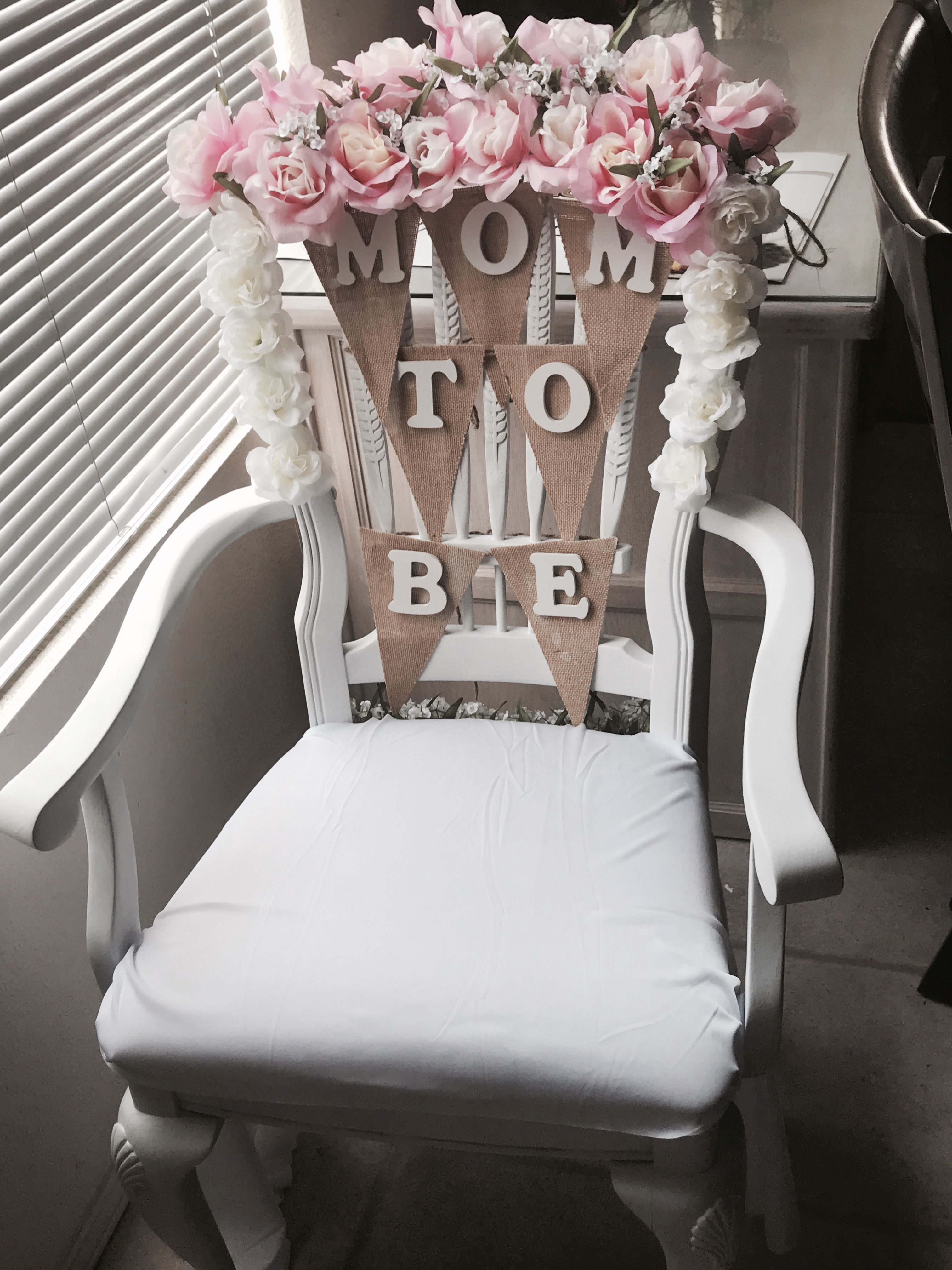 chair for baby shower theater chairs rooms to go idea flowers from walmart wood