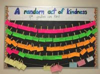 Random Acts of Kindness bulletin board.