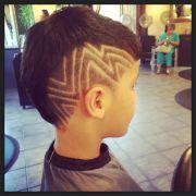 boy cuts with zig zag design fun