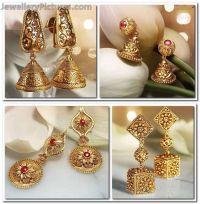 Antique Earrings latest jewellery designs