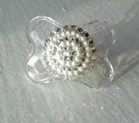 DIAMONDS and PEARLS Swarovski Pacifier Baby Infant Crystal
