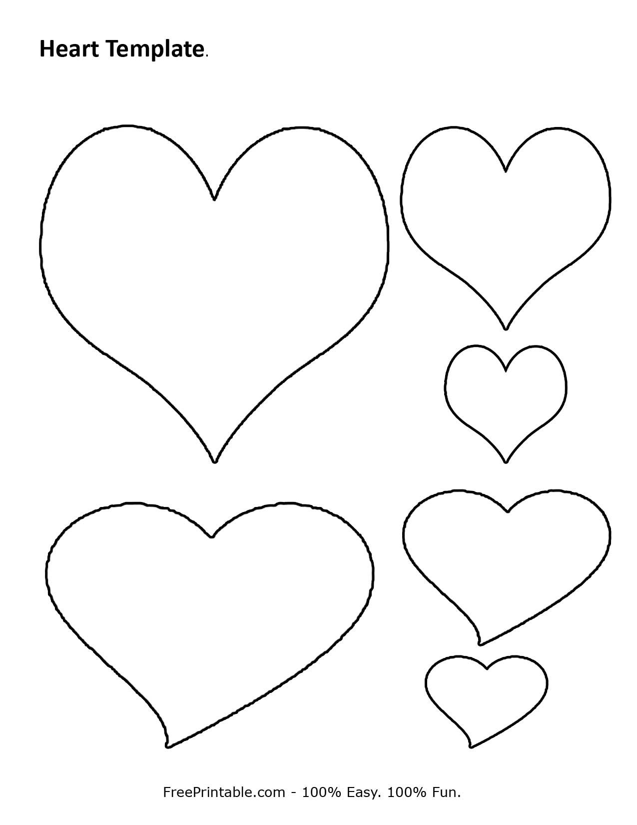 Free Printable Heart Template