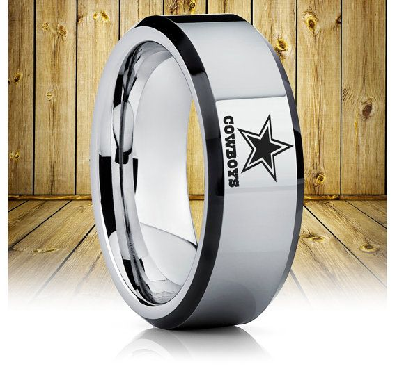 Dallas Cowboys Tungsten Wedding BandDallas Cowboys