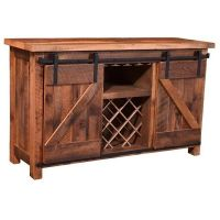 Sliding Barn Door Wine Cabinet ($2,658) liked on Polyvore ...
