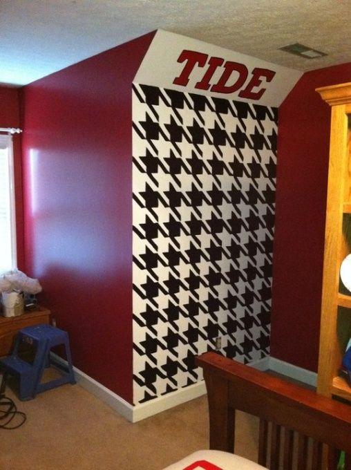 Custom Score Board Flat Screen Alabama Crimson Tide Boys Room