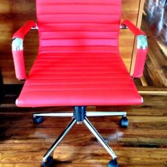Office Chair Rental Swivel Invented Eames Style Desk In Red Return Sale Dynamic Services