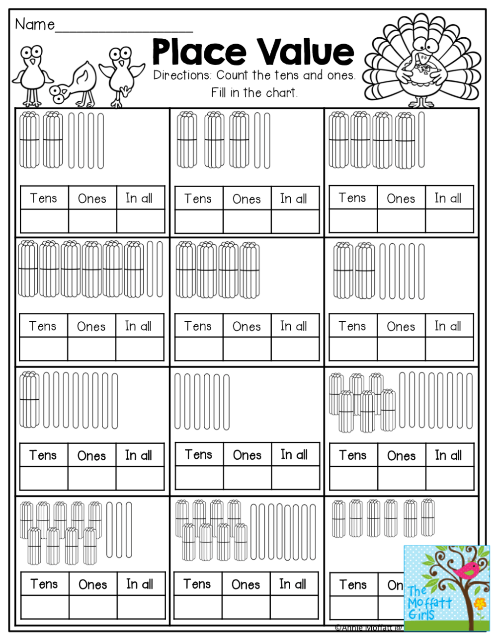 medium resolution of Ones And Tens Worksheets